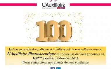 100 cessions de pharmacies en 2019 !!